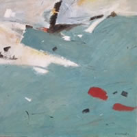 Mediterranean Blue – Kim Page – Paintings in Watercolour and Oil – Surrey Art Gallery – England