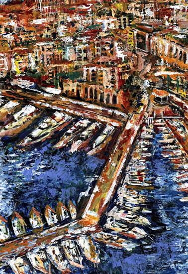 Monaco - Grainne Roche - Fine Artist - Byfleet Art Group - Woking Society of Arts - Surrey Art Gallery