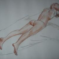 Nude Study – Paintings and Drawings in various Media – Vanessa Kennedy – Surrey Artist – Surrey Art Gallery