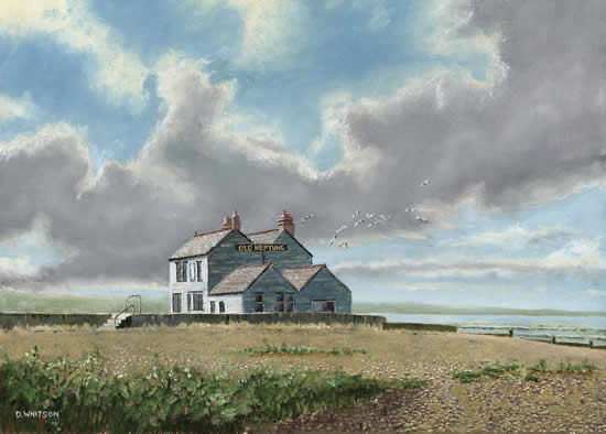 Old Neptune Pub, Whitstable, Kent - David Whitson - Paintings in Oils - Woking Society of Arts - Surrey Art Gallery