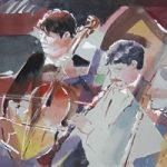 Orchestra – Bach Oratorio – Kim Page – Paintings in Watercolour and Oil – Surrey Art Gallery – England