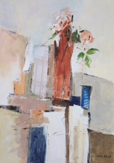 Pat Austin Rose - Still-Life - Kim Page - Paintings in Watercolour and Oil - Surrey Art Gallery - England