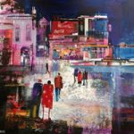 Picadilly Circus London – Out Late – Nagib Karsan – Artist in Watercolours, Mixed Media and Collage – Buckingham Fine Art Publishers Ltd