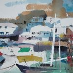 Polperro Cornwall – Kim Page – Paintings in Watercolour and Oil – Surrey Art Gallery – England