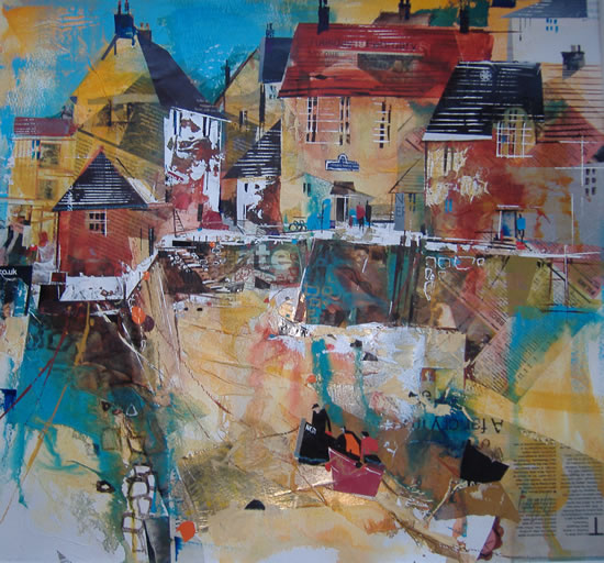 Polperro Quay - Cornwall - Nagib Karsan - Artist in Watercolours, Mixed Media and Collage - Buckingham Fine Art Publishers Ltd