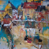 Polperro Quay – Cornwall – Nagib Karsan – Artist in Watercolours, Mixed Media and Collage – Buckingham Fine Art Publishers Ltd