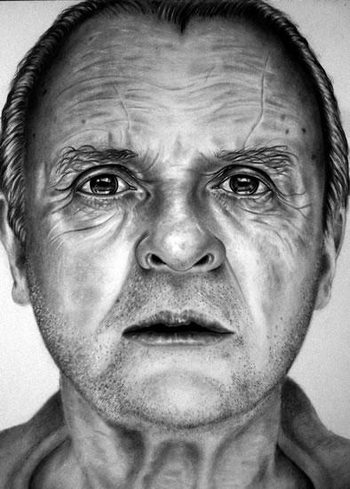 Portrait of Anthony Hopkins - Richard Johnson - Surrey and Hampshire Art Gallery - England