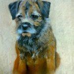 Portrait of Dog (Terrier) – Meg – Jennifer Morris – Pet Portraiture Artist – Sussex Art Gallery
