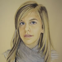 Portrait of Girl – Pencil, Charcoal and Pastels – Heidi Meadows – Surrey Art Gallery