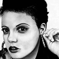 Drawings and Paintings - Portrait of Lily Allen - Richard Johnson