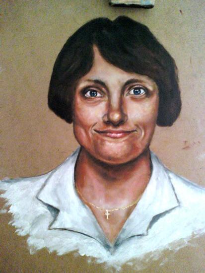 Portrait of Mum - Richard Johnson - Surrey and Hampshire Art Gallery - England