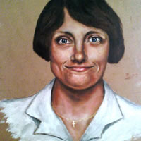 Portrait of Mum – Richard Johnson – Surrey and Hampshire Art Gallery – England