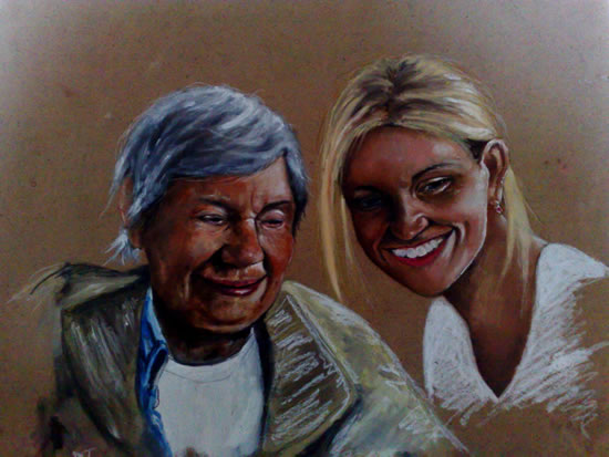 Portrait of Nan and Gem- Richard Johnson - Surrey and Hampshire Art Gallery - England