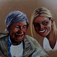 Portrait of Nan and Gem- Richard Johnson – Surrey and Hampshire Art Gallery – England