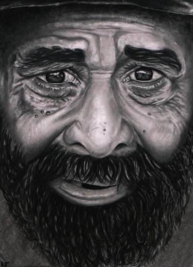 Portrait of Old Man - Richard Johnson - Surrey and Hampshire Art Gallery - England