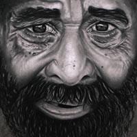 Portrait of Old Man – Richard Johnson – Surrey and Hampshire Art Gallery – England