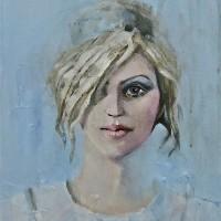 Portrait of Woman – Alcestis – Surrey Artist Ronnie Ireland – Guildford Art Society, Farnham Art Society, Woking Art Society