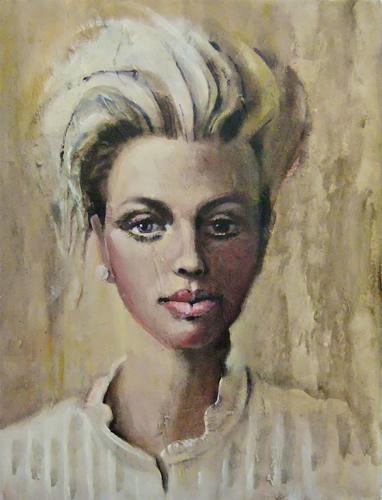 Portrait of Woman - Arachne - Surrey Artist Ronnie Ireland - Guildford Art Society, Farnham Art Society, Woking Art Society
