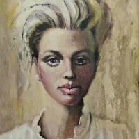 Portrait of Woman – Arachne – Surrey Artist Ronnie Ireland – Guildford Art Society, Farnham Art Society, Woking Art Society