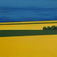 Rapeseed Field 2 – Hampshire Artist Jan Rippingham – Paintings in Acrylics – Surrey Art Gallery