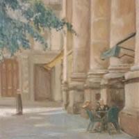 Relaxation – Street Scene – James Carey-Wilson – Fine Art and Specialist Decorative Painting – Surrey Art Gallery