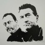 Robert De Nero and Jean Reno Portrait – Surrey Artist Chris Cunningham – Portrait Artist – Commissions Invited for Paintings of Film Stars, Rock Stars, Anyone Else