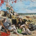 Rockpools at St Helens Beach, Isle of Wight – Grainne Roche – Fine Artist – Byfleet Art Group – Woking Society of Arts – Surrey Art Gallery