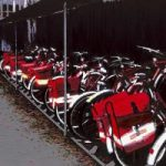 Royal Mail Bikes – Californian Artist Barbara Caswell – Surrey Artists Gallery – Canvas Giclee Prints of Acrylic on Canvas