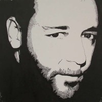 Russell Crowe Portrait – Surrey Artist Chris Cunningham – Portrait Artist – Commissions Invited for Paintings of Film Stars, Rock Stars, Anyone Else