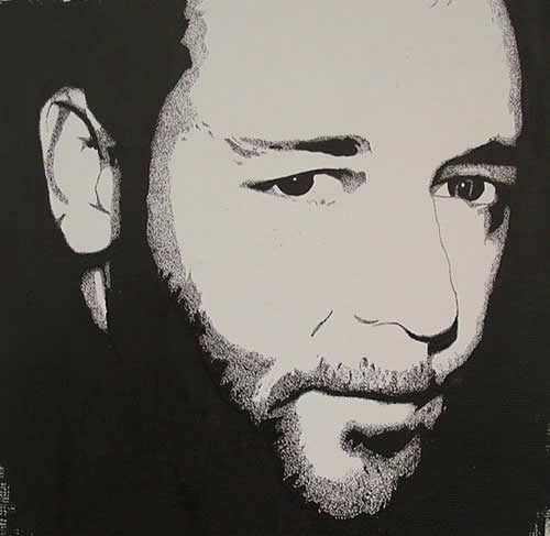 Russell Crowe Portrait - Surrey Artist Chris Cunningham - Portrait Artist - Commissions Invited for Paintings of Film Stars, Rock Stars, Anyone Else