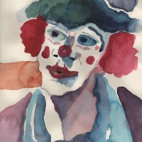 Clowns – Please Don't Let Me Dream Alone Anymore! – Clown Artist – Miles Baker – Devon Gallery