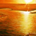 Salt Lake, Tunisia – Surrey Artist Usha Chambore – Acrylic Paintings and Prints