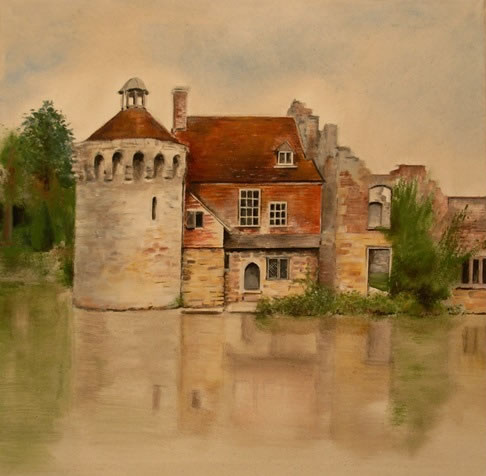 Scotney Castle - Kent, England - National Trust - Hampshire Artist Jan Rippingham - Paintings in Acrylics