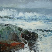Seascape – Cornish Breakers – Chris Elsden – Original Paintings and Fine Art Prints – Devon Artist