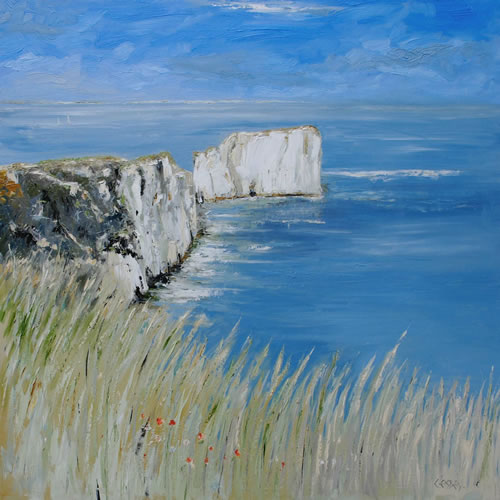 Seascape - Old Harry Rocks, Dorset - Chris Elsden - Original Paintings and Fine Art Prints - Devon Artist