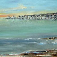 Seascape – Studland Sunrise, Dorset – Chris Elsden – Original Paintings and Fine Art Prints – Devon Artist