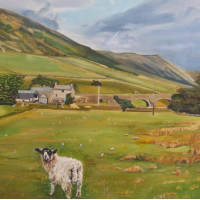 Sheep Farm near Kendal, Cumbria – Rodney Thomas Annetts – Woking Society Of Arts – Surrey Artists Gallery