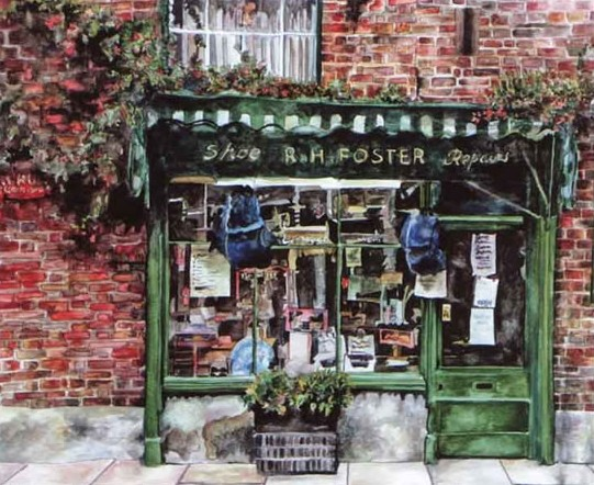 Shop - Cobblers - Susie Lidstone - Surrey Artist - Farnham Art Society, Guildford Art Society (1)