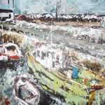 Boats 3 – Slade, Wexford Ireland – Grainne Roche – Fine Artist – Byfleet Art Group – Woking Society of Arts – Surrey Art Gallery
