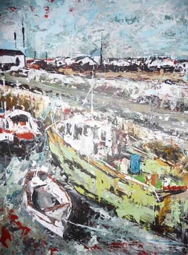 Slade Boats 3 - Ireland - Grainne Roche - Fine Artist - Byfleet Art Group - Woking Society of Arts - Surrey Art Gallery