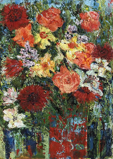 Spring Flowers - Grainne Roche - Fine Artist - Byfleet Art Group - Woking Society of Arts - Surrey Art Gallery