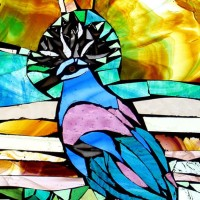 Stained Glass Mosaic – Crowned Dove – Artist – Susanne Parker – Surrey Artists Gallery