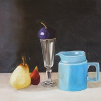 Still Life – Blue Jug and Fruit – Rodney Thomas Annetts – Woking Society Of Arts – Surrey Artists Gallery