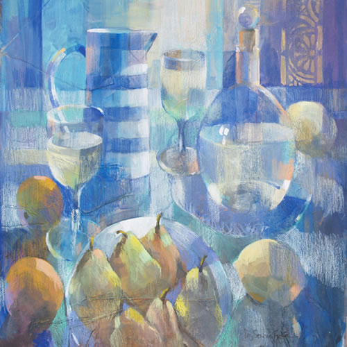 Still Life - Cornishware Jug - Liz Seward S.W.A. S.F.P. Professional Artist, Art Tutor and Art Society Demonstrations