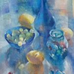 Still Life – Glass and Marbles – Liz Seward S.W.A. S.F.P. Professional Artist, Art Tutor and Art Society Demonstrations