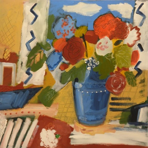 Still Life - Summer Flowers - Hampshire Artist Jan Rippingham - Paintings in Acrylics