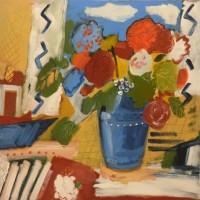 Still Life – Summer Flowers – Hampshire Artist Jan Rippingham – Paintings in Acrylics