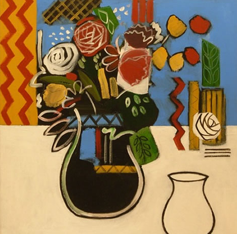 Still Life - Two Vases - Surrey Art Gallery - Hampshire Artist Jan Rippingham - Paintings in Acrylics