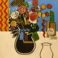 Still Life – Two Vases – Hampshire Artist Jan Rippingham – Paintings in Acrylics – Surrey Art Gallery
