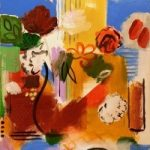 Still Life – Vase in front Of Window – Hampshire Artist Jan Rippingham – Paintings in Acrylics